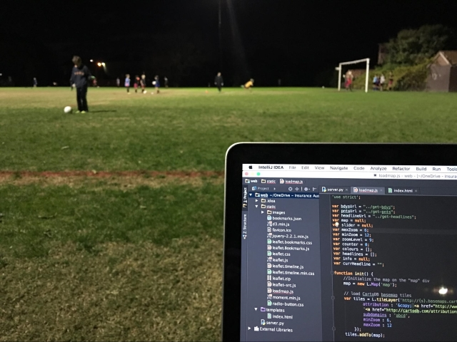 How a geohipster watches football (soccer) practice