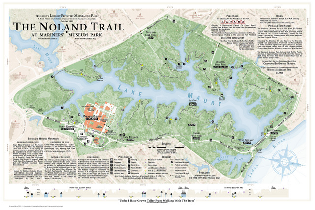 The Noland Trail map by Jonah Adkins, Newport News, Virginia
