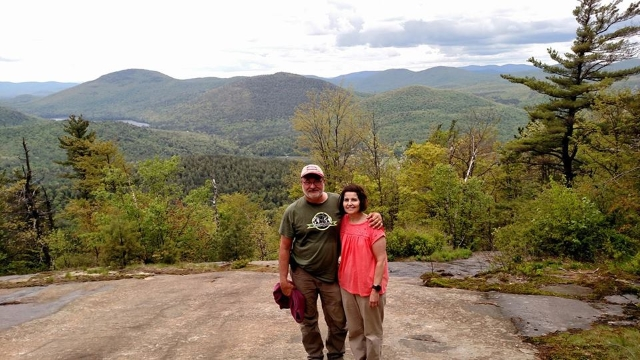 Don Meltz and wife Terry on Crane Mountain, New York