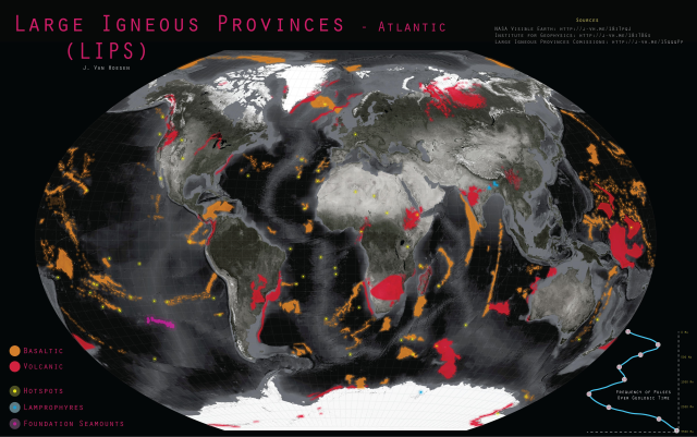 'Large Igneous Provinces (LIPS) - Atlantic Ocean' by John Van Hoesen