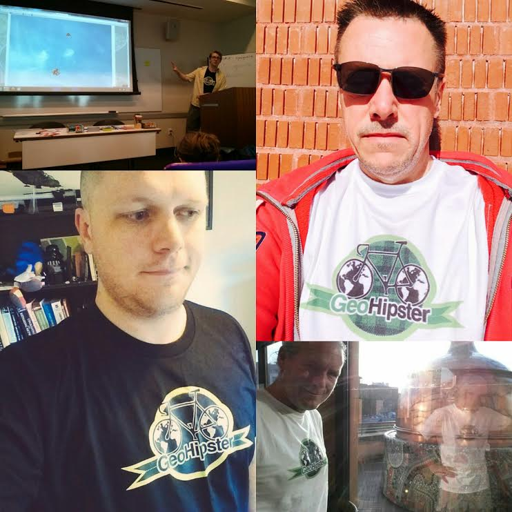 Geohipster sightings (clockwise from top left): New York, NY, USA; Southampton, England, United Kingdom; Como, Italy; Gold Coast QLD, Australia