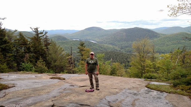 Don Meltz on Crane Mountain, New York