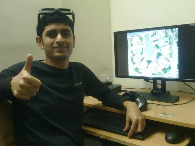 Srikant at his work station