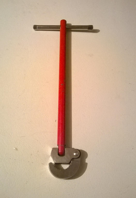 The original special tool: a basin wrench