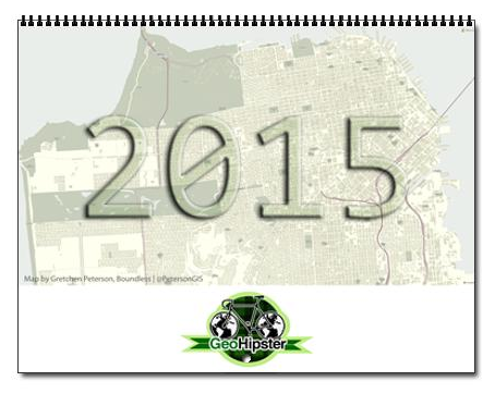 GeoHipster 2015 Calendar cover layout