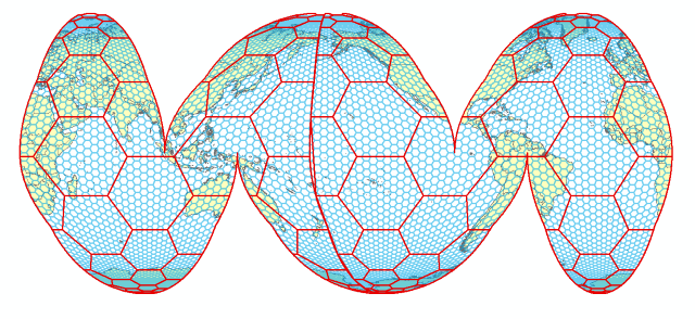 'Goode Homolosine projection map' by Damian Spangrud