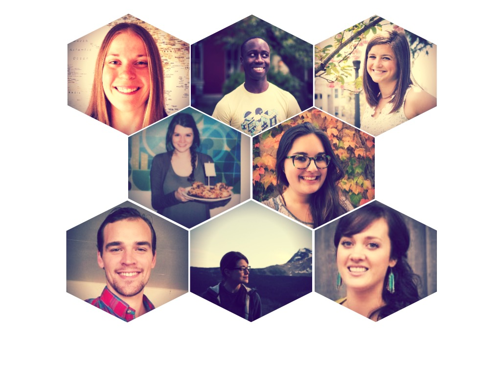 Eight young professionals doing awesome things in geo | Left to right: Top row: Kitty Hurley, Kelvin Abrokwa-Johnson, Allison Smith; Middle row: Courtney Claessens, Katie Kowalsky; Bottom row: Alex Kappel, Kara Mahoney, Jacqueline Kovarik