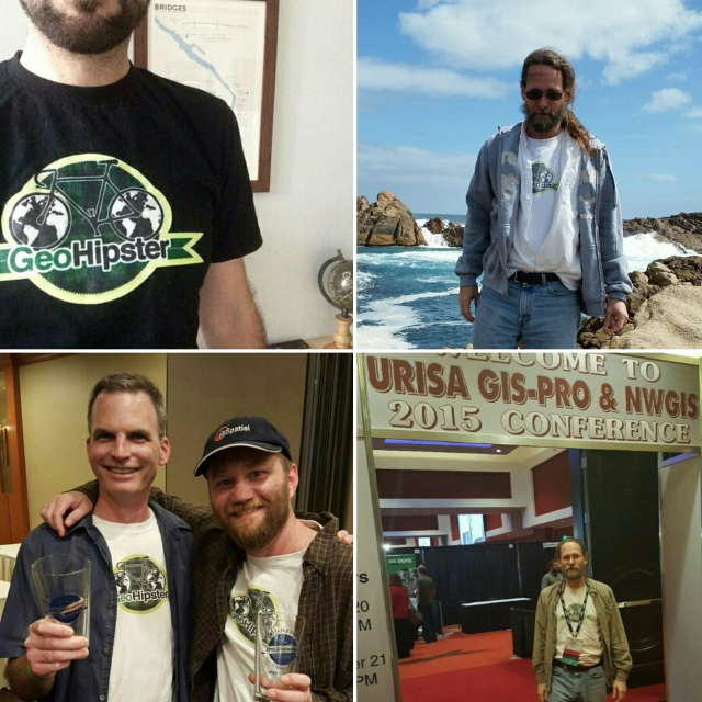 Geohipster sightings (clockwise from top left): St Petersburg, FL, USA; Bovell, Western Australia; Spokane, WA, USA; Duluth, MN, USA