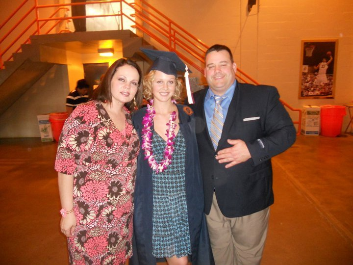 Rebekah with her parents